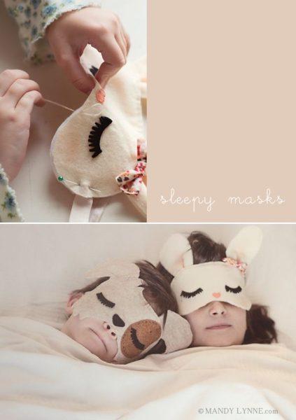 Máscaras infantiles de animales para irse a dormir (o para disfraces) 2
