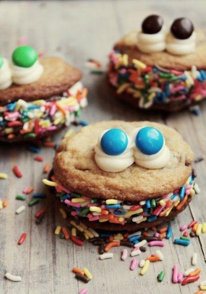 ¿Monstruo de las galletas o galletas monstruo…? ¡No importa! Son galletas decoradas muy fáciles…