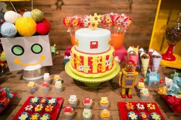 Una fiesta temática de robots muy inspiradora