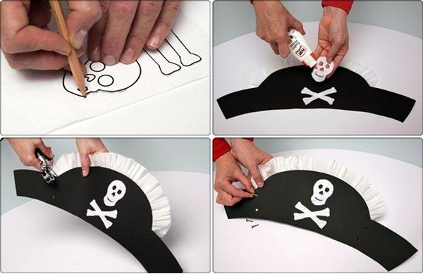¿Buscando disfraces caseros ¡Prueba con este de gorro de pirata! 3