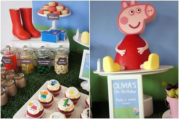 Impresionante fiesta temática para niños de Peppa Pig 2