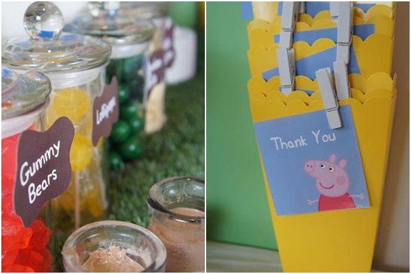 Impresionante fiesta temática para niños de Peppa Pig 3
