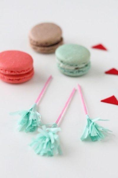 Manualidades con niños flechas de san Valentín con macarons 2