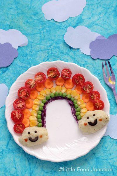 Una receta para niños con arcoíris de alimentos sanos 2