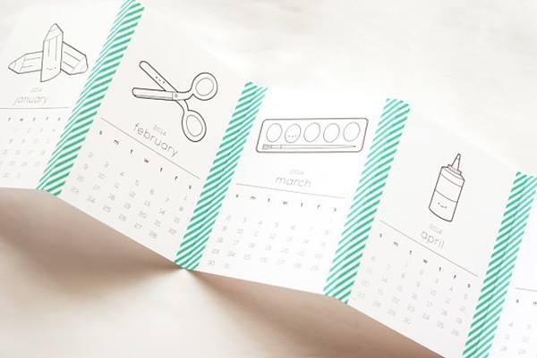 Bonito calendario para imprimir con descarga gratis