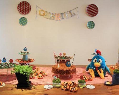 decoración fiesta gallinita para niños