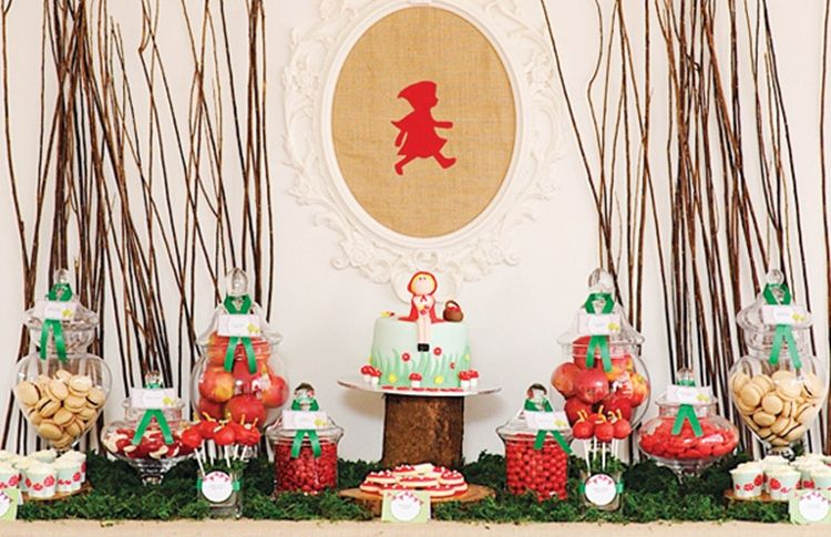 Deliciosa fiesta infantil Caperucita roja