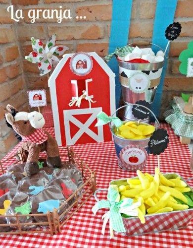 mesa granjero para fiesta infantil