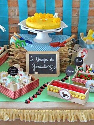 tarta pollito para cumple infantil de granja