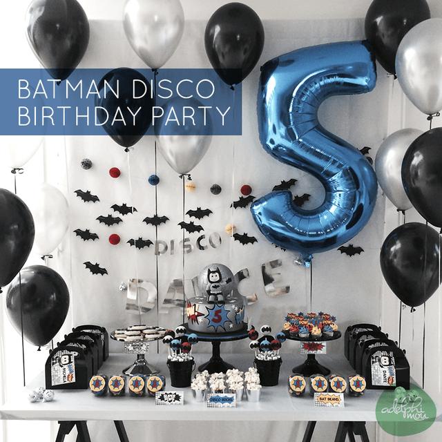"""Fiesta de Cumpleaños """"Disco Batman"""""""