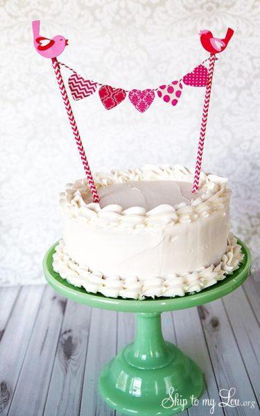 fiesta corazones tarta pastel