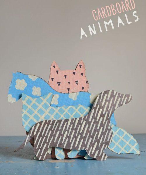 Manualidades de Cartón… Siluetas para recortar y pintar animales