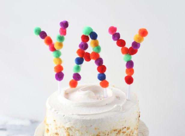 Manualidad: cómo hacer letras para decorar tu tarta de cumpleaños