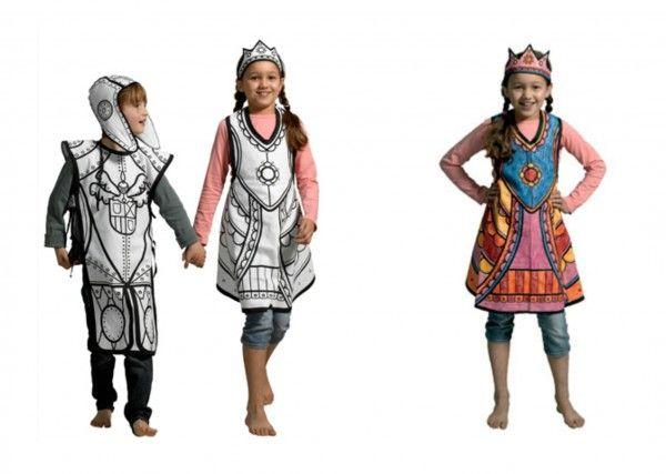 Disfraces originales para colorear -3