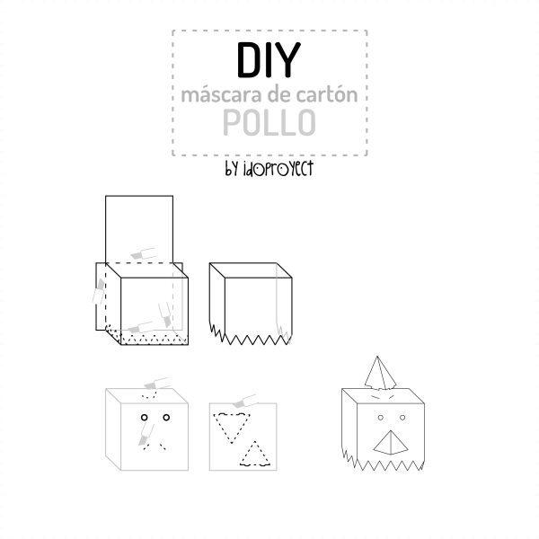 cómo hacer disfraces máscaras cartón cajas niños infantil (1)