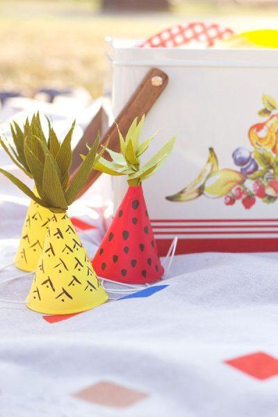 DIY: mini sombreros de fiesta inspirados en frutas
