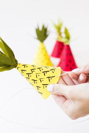 como hacer sombrero idea fiesta infantil frutas (9)