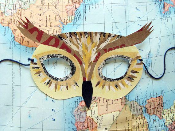máscaras de aninmales cómo hacer diseño patrón collage (3)