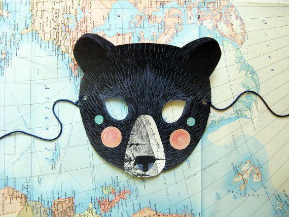 máscaras de aninmales cómo hacer diseño patrón collage (4)