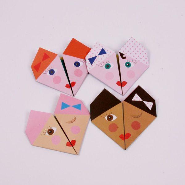 Invitaciones de cumple  y notas de origami