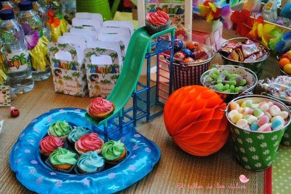 fiestas y cumpleaños ideas decoración tropical verano hawaiana hawai infantil (10)