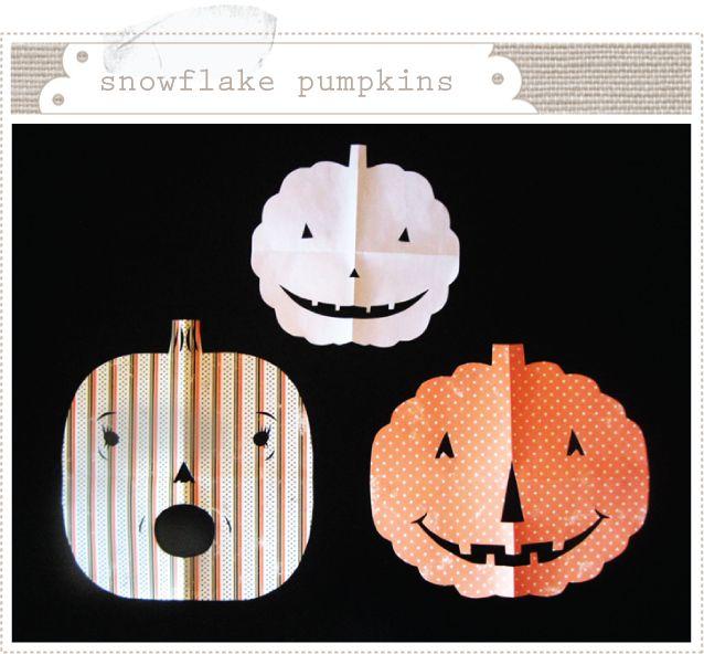 Calabazas de papel para hacer con niños