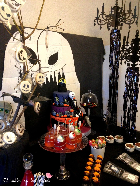 decoracion fiesta infantil halloween tim burton pesadilla antes de navidad ideas (1)