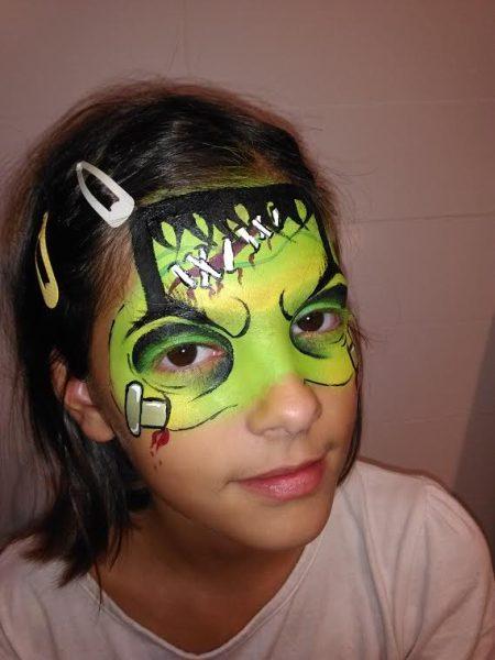 Como hacer, paso a paso, la cara de Frankenstein  para la fiesta de halloween