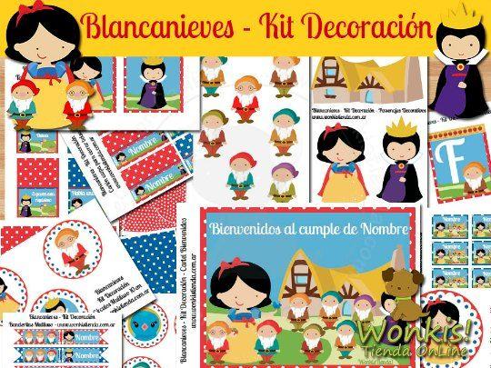 Kits de imprimibles para fiestas temáticas infantiles