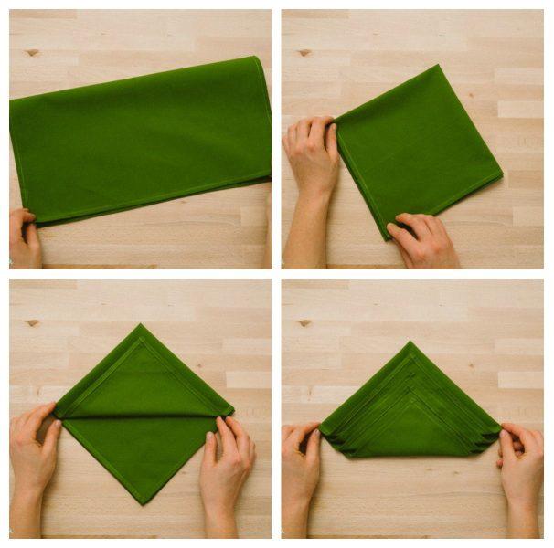 doblar servilleta tela arbol navidad facil (1)