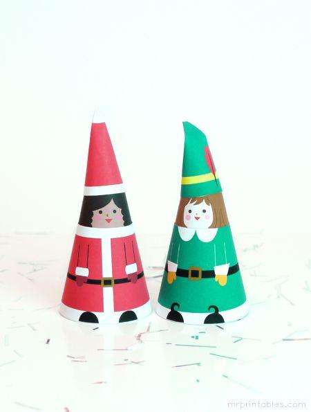 figuras navidad papel imprimibles niños juegos (2)