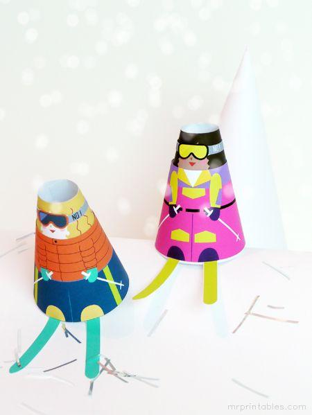 figuras navidad papel imprimibles niños juegos (4)