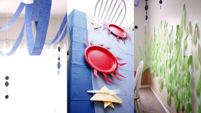 idea decoracion fiesta de cumpleaños bajo el mar