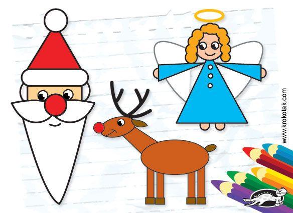 Actividades para Niños: Como dibujar a Papá Noel