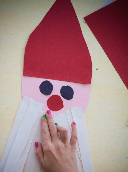 papa noel papel cartulina niños facil diy (2)