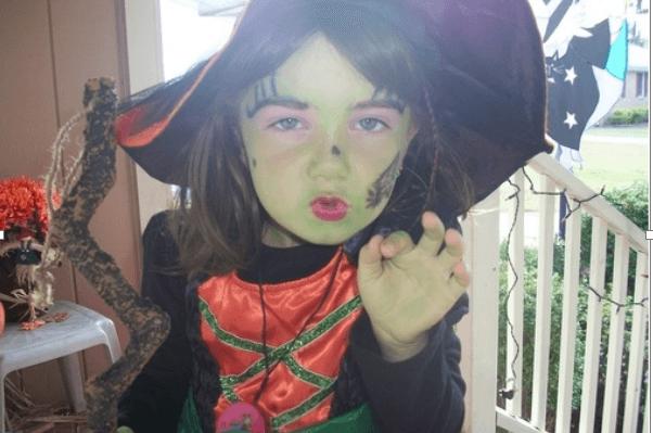Maquillajes para disfraces f ciles de hacer y bonitos - Como pintar a una nina de bruja para halloween ...