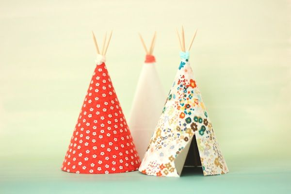 Manualidades infantiles: Como hacer un tipi decorativo