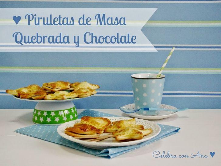 Piruletas de Masa Quebrada y Chocolate