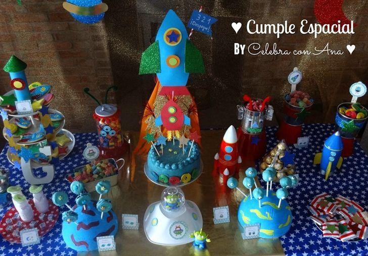 """Fiesta Infantil de Cumpleaños Paseo Espacial de """"Celebra con Ana"""""""