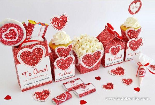 decoracion kit imprimible dia enamorados amor corazon rojo (1)