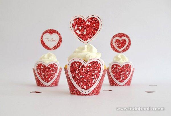 decoracion kit imprimible dia enamorados amor corazon rojo (2)