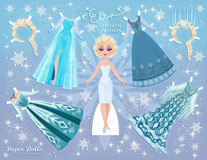 Imprimibles de Elsa Frozen