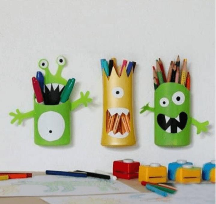 DIY: Manualidades de divertidos bote para lápices