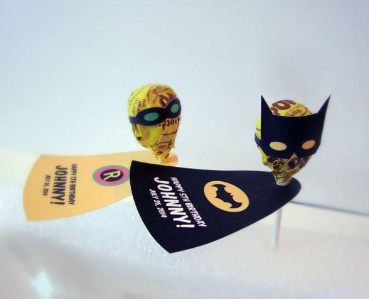 Detalles para una fiesta de superhéroes