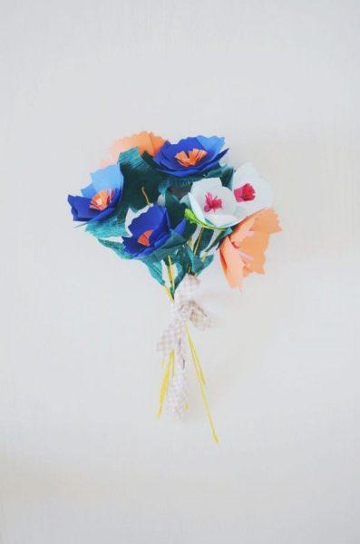 Manualidades de Papel: Como hacer un ramo de Flores