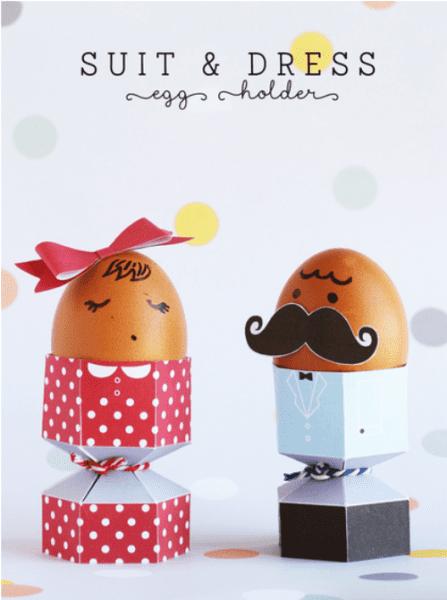 DIY Elegantes Huevos de Pascua con imprimibles