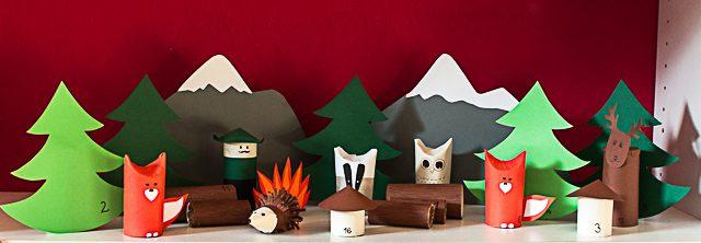 Manualidades divertidas con cartón, un bosque animado