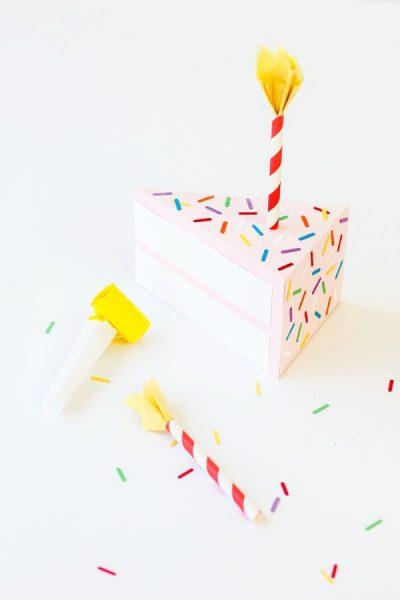 caja de cumpleaños en forma de tarta diy