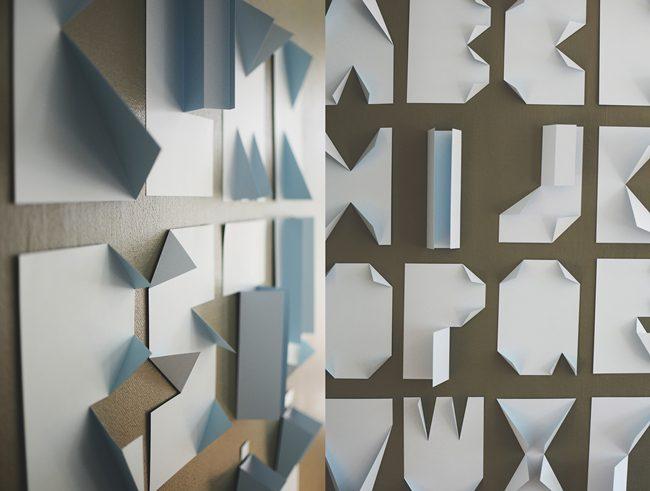 Decoración con abecedario de papel