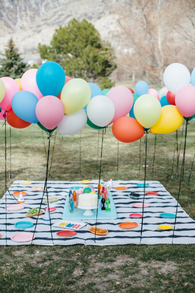 Fiesta Baby Shower Con Globos Al Aire Libre Fiestas Y Cumples